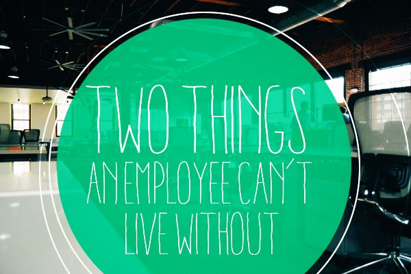 Two Things An Employee Can't Live Without
